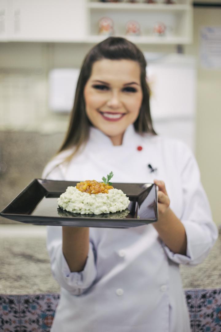 Receita de Risoto de Gorgonzola com Pêras caramelizadas