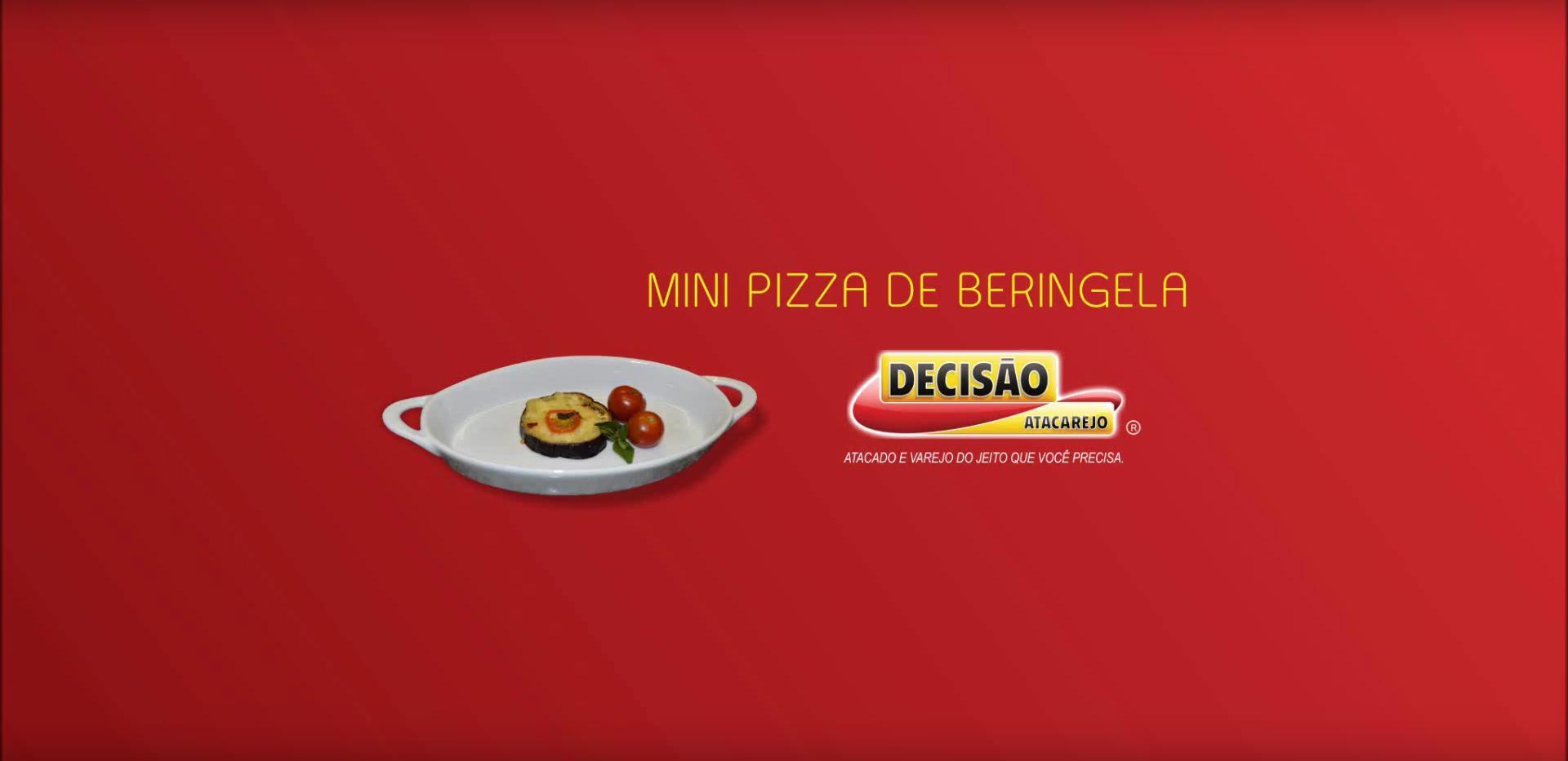 Mini Pizza de Berinjela - Decisão Atacarejo